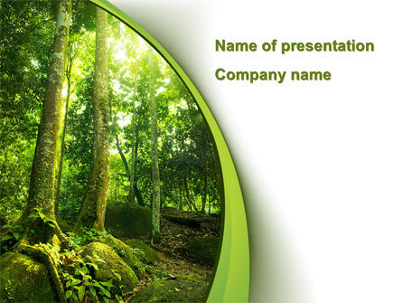 Nature & Environment: Trees in the Forest PowerPoint Template #09985