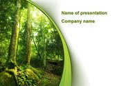 Nature & Environment: Templat PowerPoint Pohon Di Hutan #09985