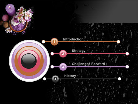 Violet Bath Salt PowerPoint Template, Slide 3, 09987, Health and Recreation — PoweredTemplate.com
