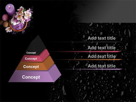 Violet Bath Salt PowerPoint Template, Slide 4, 09987, Health and Recreation — PoweredTemplate.com