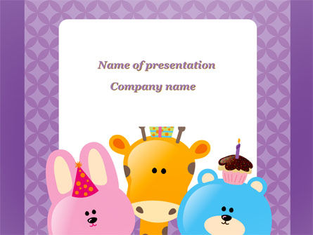 happy birthday for your children powerpoint template, backgrounds, Powerpoint templates