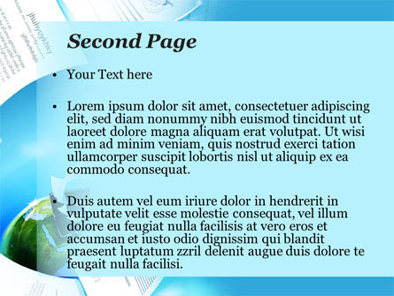Flying Papers PowerPoint Template, Slide 2, 09989, Business — PoweredTemplate.com