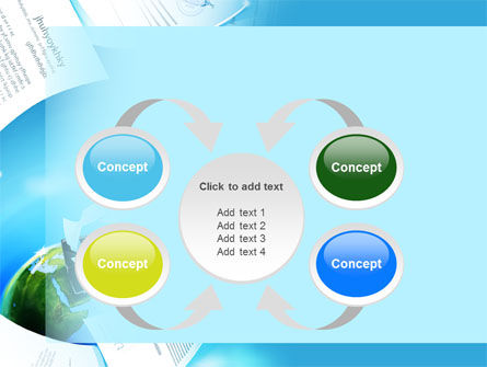 Flying Papers PowerPoint Template Slide 6