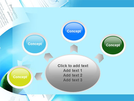 Flying Papers PowerPoint Template Slide 7