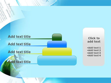 Flying Papers PowerPoint Template Slide 8