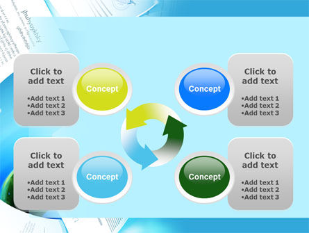 Flying Papers PowerPoint Template Slide 9