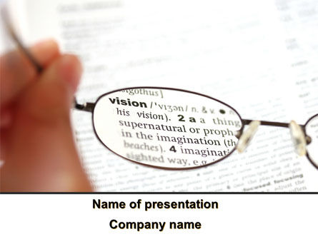 Medical: Project Vision PowerPoint Template #09992