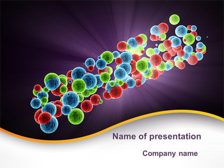 Molecular Conglomerate PowerPoint Template, 09993, Technology and Science — PoweredTemplate.com