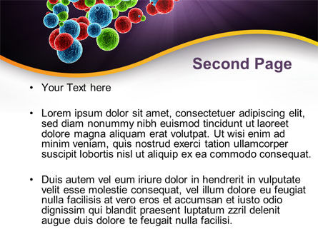 Molecular Conglomerate PowerPoint Template, Slide 2, 09993, Technology and Science — PoweredTemplate.com