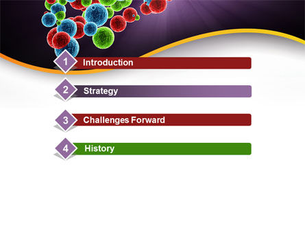 Molecular Conglomerate PowerPoint Template, Slide 3, 09993, Technology and Science — PoweredTemplate.com