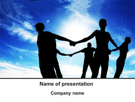 Circle of Friends PowerPoint Template, 09995, Religious/Spiritual — PoweredTemplate.com