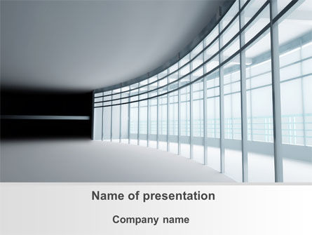 Construction: Glassed-in Gallery PowerPoint Template #09996