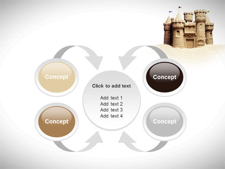 Sand Castle PowerPoint Template Slide 6