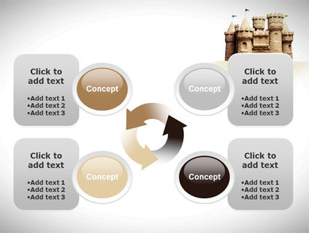 Sand Castle PowerPoint Template Slide 9