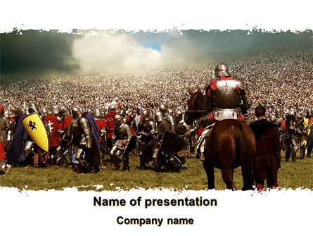 The Great Battles of the Middle Ages PowerPoint Template, 09999, Military — PoweredTemplate.com