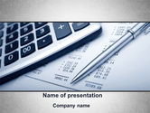 Financial/Accounting: Summing Calculation PowerPoint Template #10000