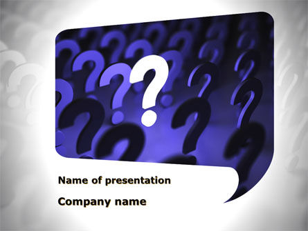 Consulting: Question Mark Speaking Bulb PowerPoint Template #10001