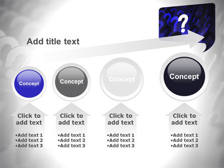 Question Mark Speaking Bulb PowerPoint Template Slide 13