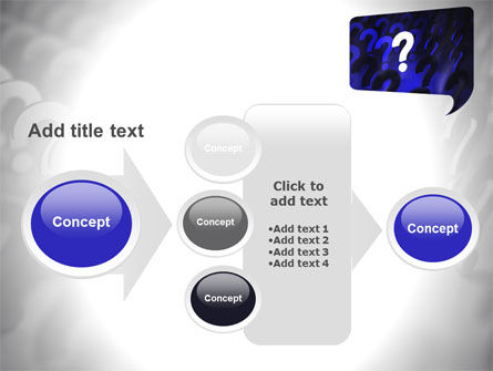 Question Mark Speaking Bulb PowerPoint Template Slide 17