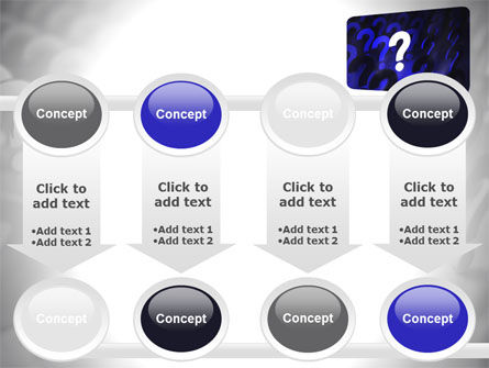 Question Mark Speaking Bulb PowerPoint Template Slide 18