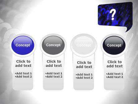 Question Mark Speaking Bulb PowerPoint Template Slide 5