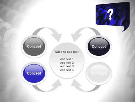 Question Mark Speaking Bulb PowerPoint Template Slide 6