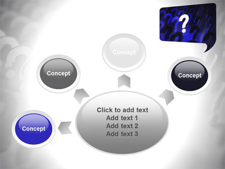 Question Mark Speaking Bulb PowerPoint Template Slide 7