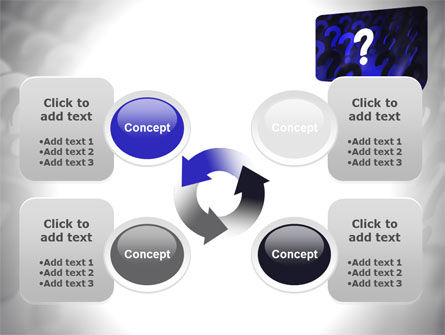 Question Mark Speaking Bulb PowerPoint Template Slide 9