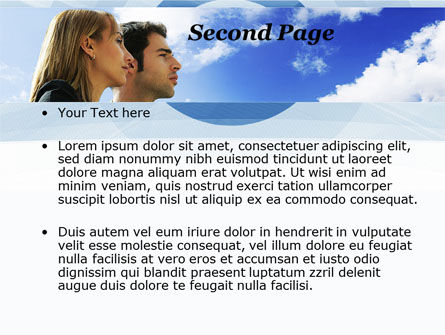 Young Couple Looking To The Future PowerPoint Template, Slide 2, 10004, People — PoweredTemplate.com