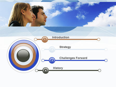 Young Couple Looking To The Future PowerPoint Template, Slide 3, 10004, People — PoweredTemplate.com