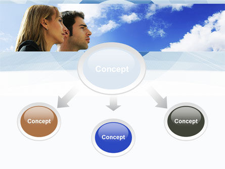 Young Couple Looking To The Future PowerPoint Template, Slide 4, 10004, People — PoweredTemplate.com