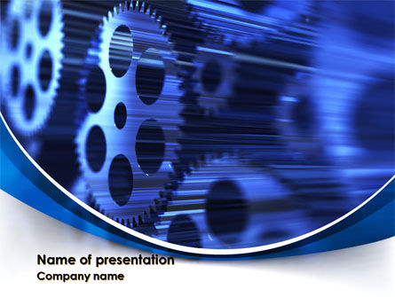 Wheels of Pinion PowerPoint Template, 10007, Careers/Industry — PoweredTemplate.com
