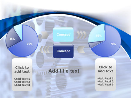Wheels of Pinion PowerPoint Template Slide 16