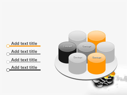 Golden Puzzle PowerPoint Template Slide 12