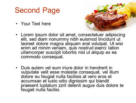Pork Ribs with Potatoes PowerPoint Template Slide 2