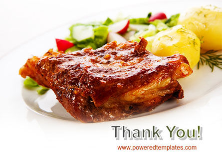 Pork Ribs with Potatoes PowerPoint Template Slide 20