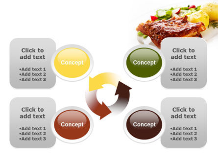 Pork Ribs with Potatoes PowerPoint Template Slide 9