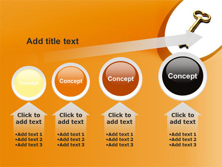 Golden Key PowerPoint Template Slide 13