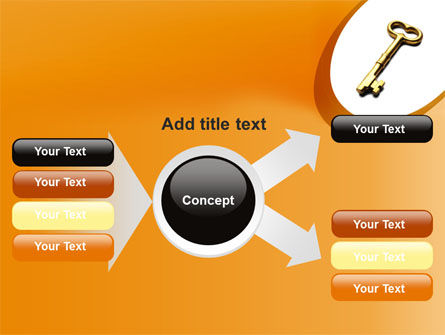 Golden Key PowerPoint Template Slide 14