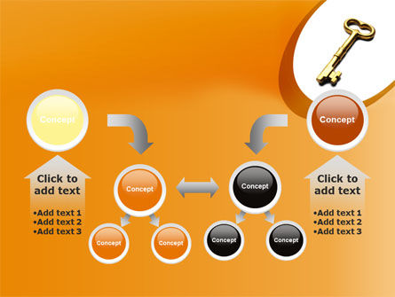 Golden Key PowerPoint Template Slide 19
