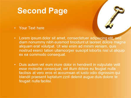 Golden Key PowerPoint Template Slide 2