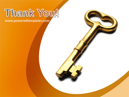 Golden Key PowerPoint Template Slide 20