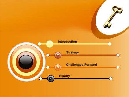 Golden Key PowerPoint Template Slide 3