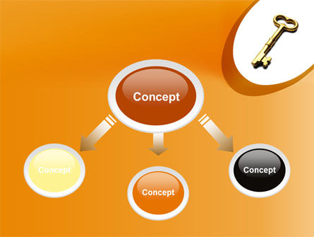 Golden Key PowerPoint Template, Slide 4, 10012, Consulting — PoweredTemplate.com