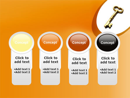 Golden Key PowerPoint Template Slide 5