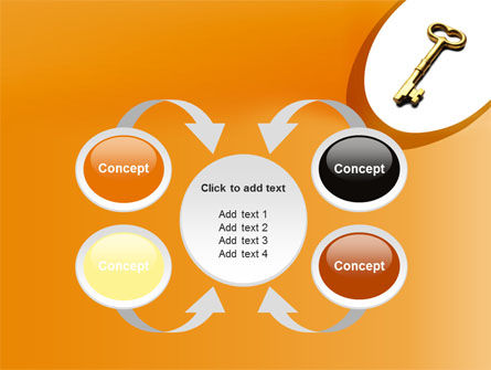 Golden Key PowerPoint Template Slide 6