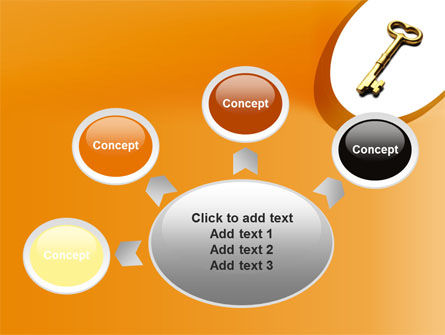 Golden Key PowerPoint Template Slide 7