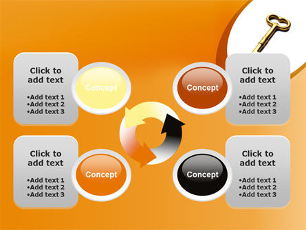 Golden Key PowerPoint Template Slide 9