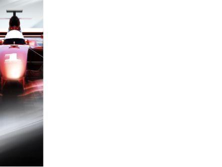 Formula One Bolide Racing PowerPoint Template, Slide 3, 10013, Sports — PoweredTemplate.com
