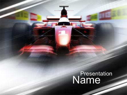 Formula One Bolide Racing PowerPoint Template, 10013, Sports — PoweredTemplate.com
